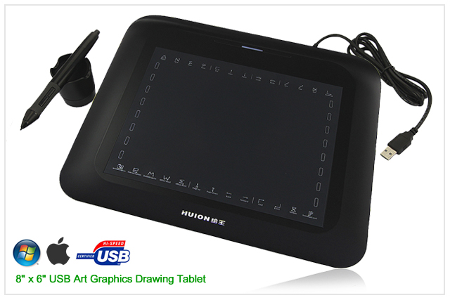 USB Art Graphics Drawing Tablet  Wireless Digital Pen 8