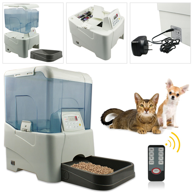 Automatic Pet Feeder Dish 5-Meal Programmable Feeder for Dog and Cat