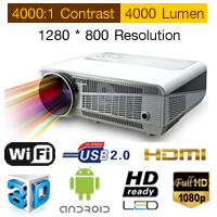 Android 4.2 Projector WIFI  Full HD LED 4000 Lumens