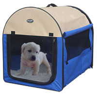 Bag pet dog and cat Petcomer tent fence portable pet blue color