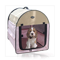 Bag pet dog and cat Petcomer tent fence portable pet pink color