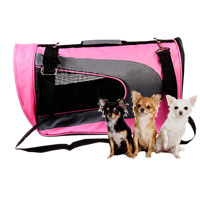 Petcomer Bag pet dog and cat portable pet pink color