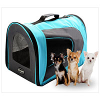 Petcomer Bag pet dog and cat portable pet sky blue color