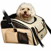 Bag pet dog and cat portable pet beige color