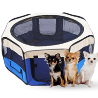 Stall pet dog and cat portable pet blue color