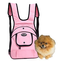 backpack pet dog and cat portable pet pink color