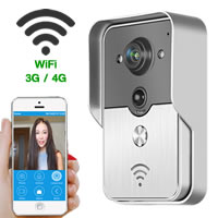 Wifi doorbell Wireless video doorbell peephole camera for iphone Android